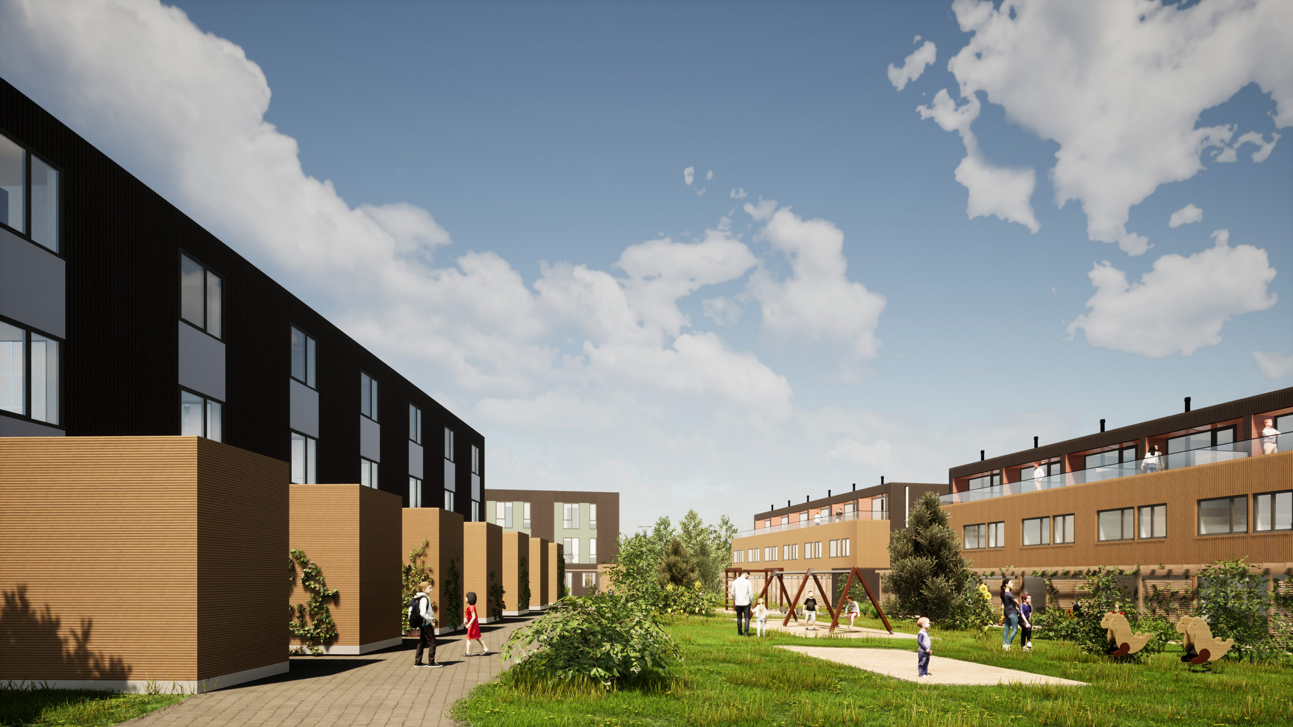 Nytt boligprosjekt i Ås, tegnet av KODA arkitekter